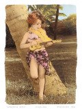 Hawaiian Ukulele Girl, Hawaii, USA Prints by  Himani