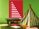 Red Counting Pears Wall Mural by  Avalisa
