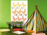Orange Chicken Family Wall Mural by  Avalisa