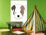 Bulldog Wall Mural by  Avalisa
