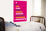 Pink Counting Apples Wall Mural by Avalisa