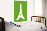 Green Eiffel Tower Wall Mural by  Avalisa