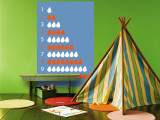 Blue Counting Pears Wall Mural by Avalisa