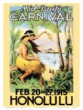 Carnaval en el Pacífico, 1915 Lámina