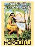 Mid Pacific Carnival, Honolulu, Hawaii, 1915 Poster