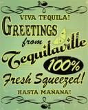 Tequilaville Plaque en métal