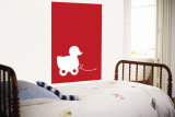 Red Ducky Wall Mural by  Avalisa