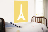 Yellow Eiffel Tower Wall Mural by  Avalisa