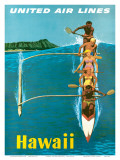 United Airlines, Outrigger Posters af Stan Galli