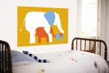 Orange Elephants Vægplakat af Avalisa