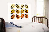 Orange Ladybug Family Wall Mural by Avalisa 