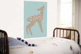 Blue Fawn Wall Mural by  Avalisa