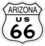 Route 66 Arizona Plaque en métal