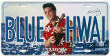 Elvis Blue Hawaii License Plate Plaque en métal