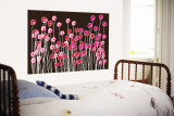 Brown Wild Flowers Wall Mural by  Avalisa