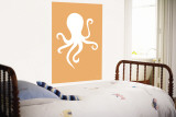 Orange Octopus Wall Mural by  Avalisa