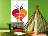 Red Rainbow Snails Wall Mural by  Avalisa