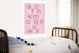 Pink Alphabet Murais de parede por  Avalisa