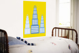 Yellow Skyscraper Wall Mural by  Avalisa