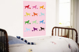 Pink Rainbow Labs Wall Mural by  Avalisa