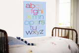 Blue Rainbow Alphabet Wall Mural by Avalisa
