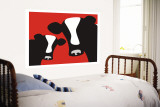 Red Cows Wall Mural by  Avalisa