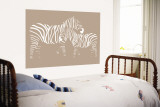 Brown Zebra Wall Mural by Avalisa