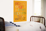 Orange Rainbow Alphabet Wall Mural by  Avalisa
