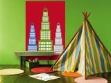 Red Skyscraper Vægplakat af Avalisa