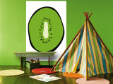 Green Kiwi Wall Mural by Avalisa 
