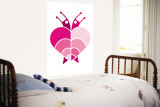 Pink Rainbow Snails Wall Mural by  Avalisa