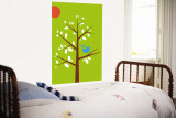 Green Songbird Wall Mural by  Avalisa