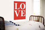Red Love Wall Mural by  Avalisa