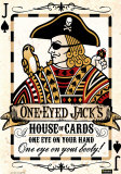 One-eyed Jack, House of Cards.  One Eye on your Hands, One Eye on your Booty! Tin Sign