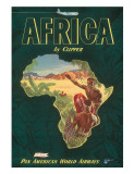 Africa by Clipper, c.1949 Giclée-tryk