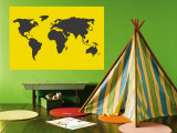 Yellow World Muurposter van Avalisa