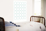 Sea Green Circles Wall Mural by  Avalisa