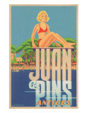 Juan Les Pins, Antibes, France, c.1930s Giclee Print by A. Kow