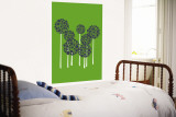 Green Allium Wall Mural by Avalisa