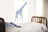 Blue Giraffe Wall Mural by  Avalisa