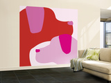 Pink Dogs Wall Mural – Large