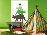Green Tritop Wall Mural by Avalisa