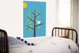 Blue Songbird Reproduction murale par  Avalisa
