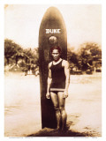 Young Duke Kahanamoku, Honolulu, Hawaii Posters