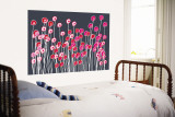 Blue Wild Flowers Wall Mural by  Avalisa