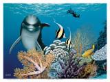 Coral Garden, Hawaiian Dolphin Posters by Mark Mackay