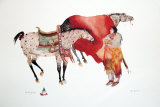 His Horses Print by Carol Grigg