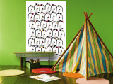 Warm Penguin Pattern Wall Mural by  Avalisa
