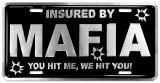 Mafia Auto Tag Plaque en métal