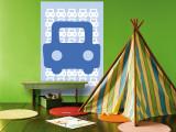 Blue Auto reproduction murale géante par  Avalisa